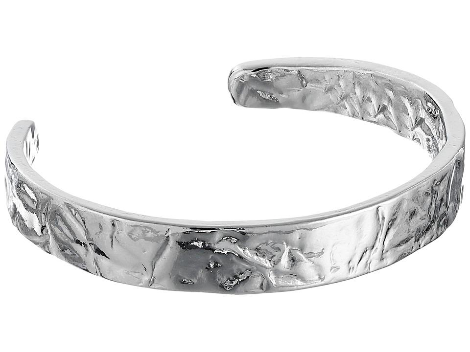 Sam Edelman Crinkle Metal Cuff Bracelet Rhodium Bracelet
