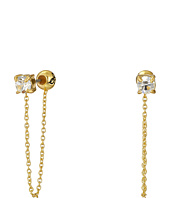 Sam Edelman - Stone Front Back Chain Earrings
