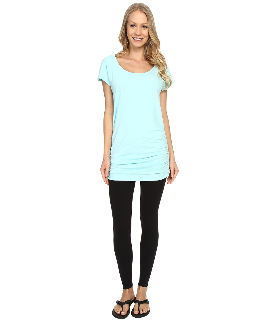 Lucy Yoga Girl Tunic Top Mist Green Heather Womens Workout