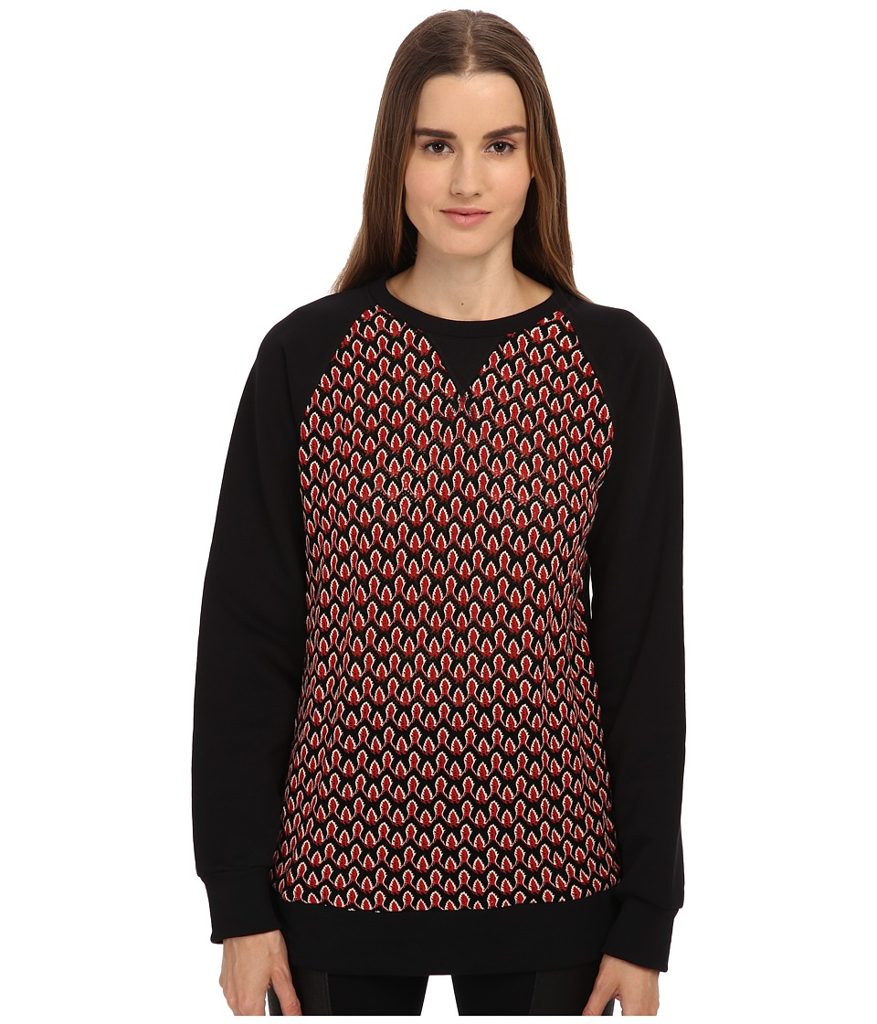 NO KAOI Pihi Top Black Womens Long Sleeve Pullover
