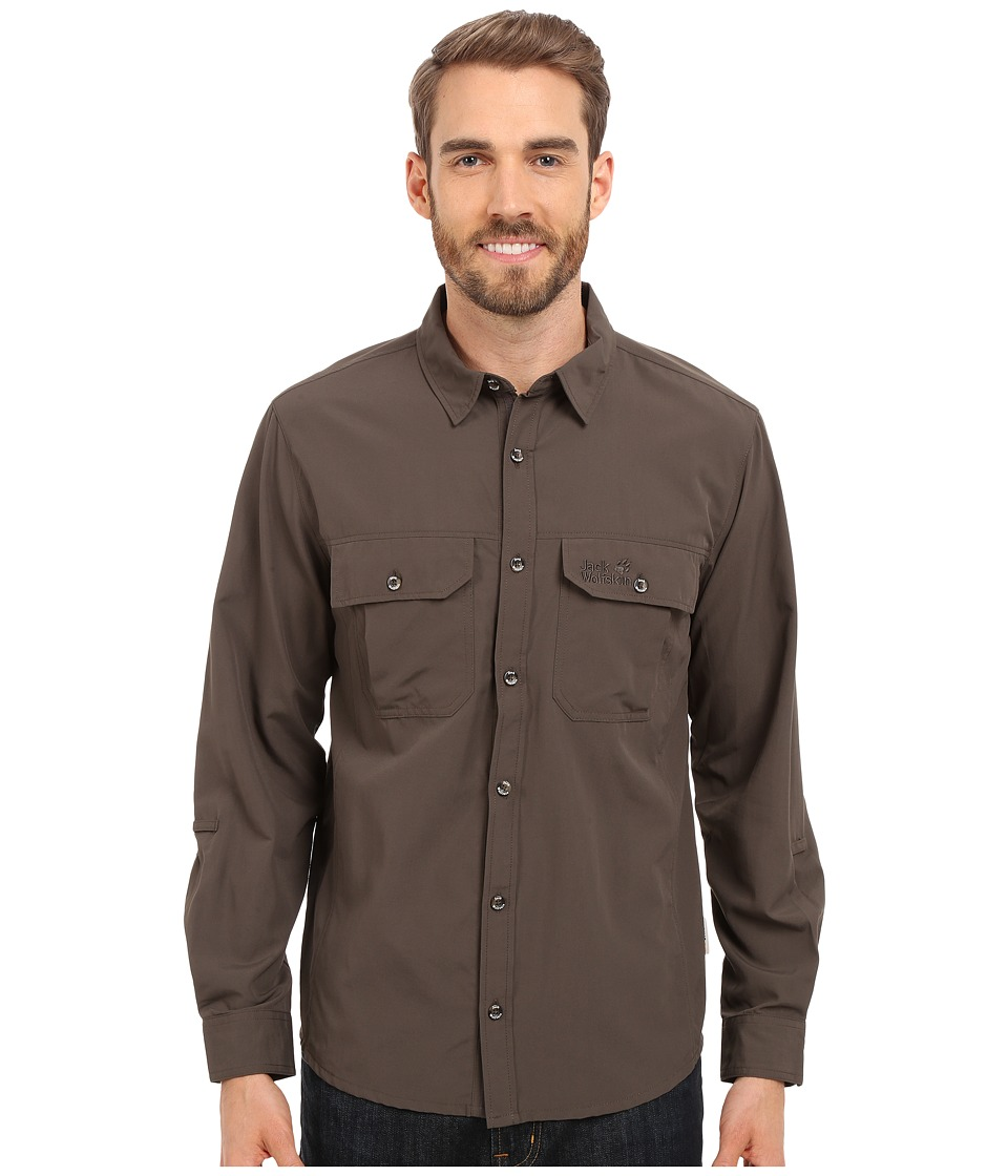 Jack Wolfskin Brightwater Chill Shirt Olive Brown Mens Clothing