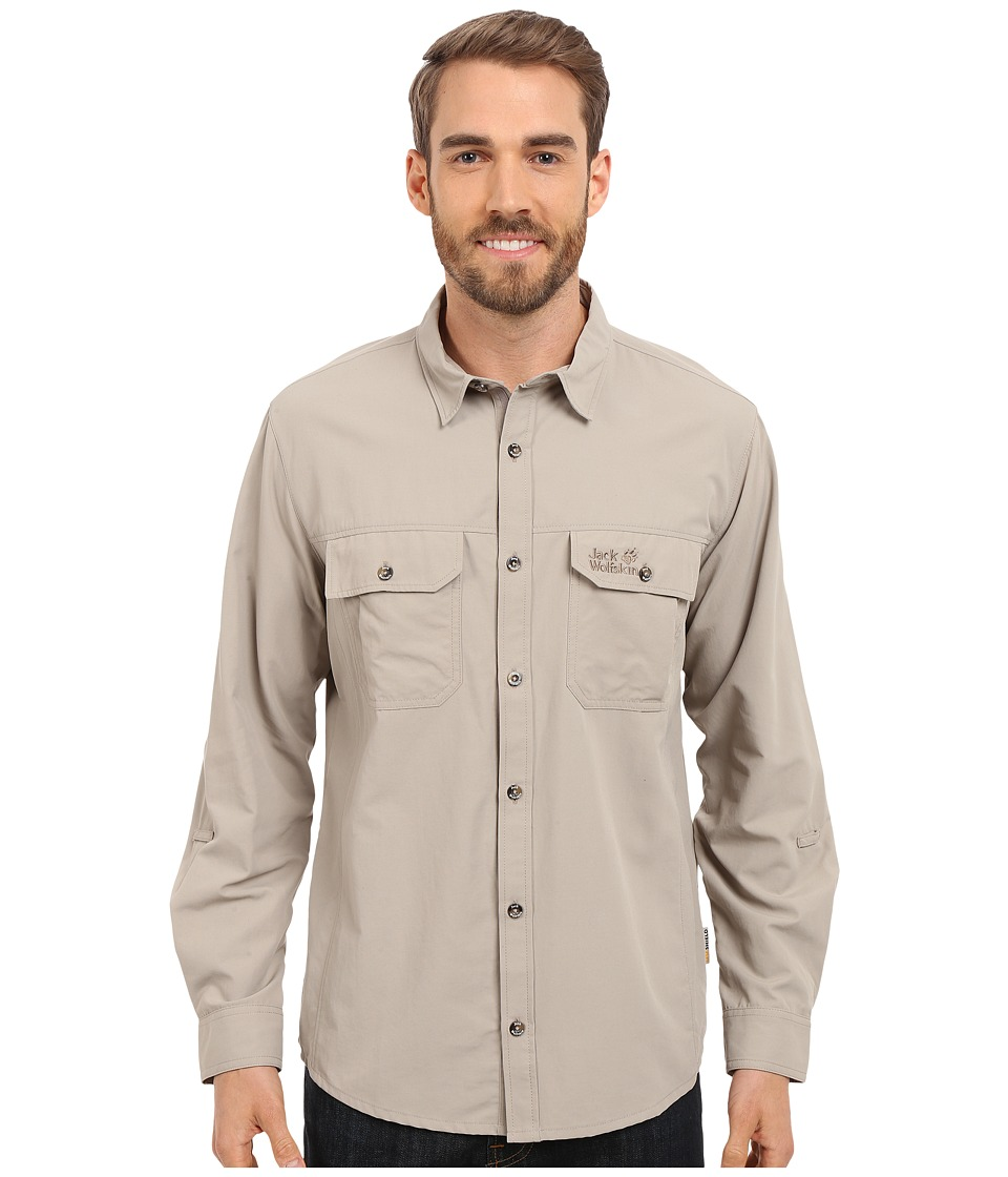 Jack Wolfskin Brightwater Chill Shirt Moon Rock Mens Clothing
