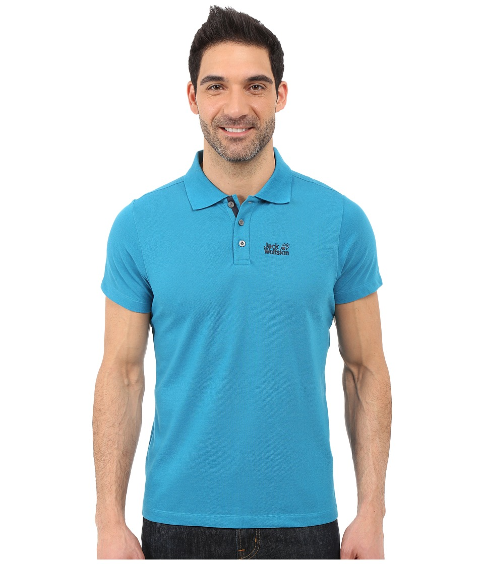 Jack Wolfskin Pique Function 65 Polo Dark Turquoise Mens Clothing