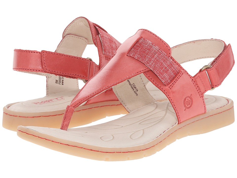 Born Belluno Fire Full Grain Leather Womens Sandals