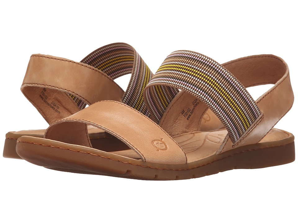 Born Parson Natural Full Grain Leather Womens Sandals
