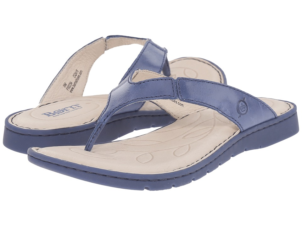 Born Amelie Ocean Full Grain Leather Womens Sandals