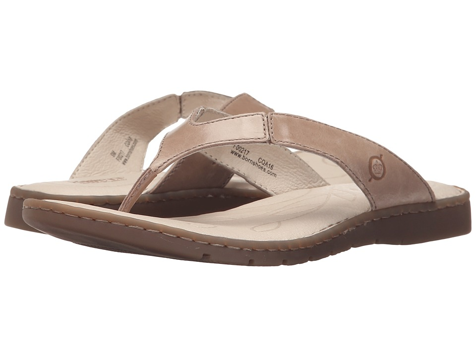 Born Amelie Taupe Full Grain Leather Womens Sandals