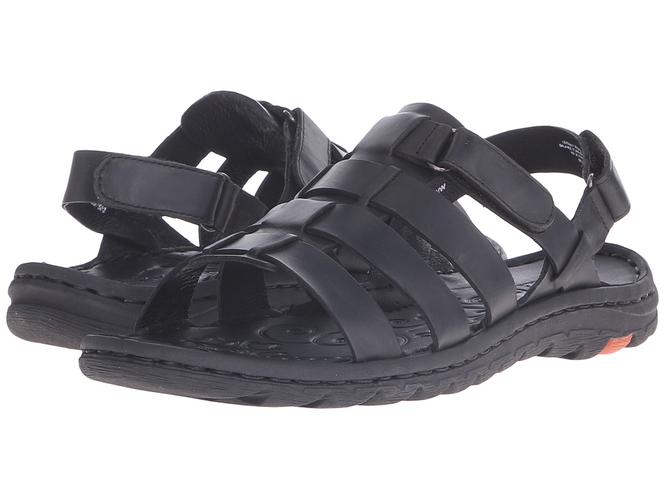 Born Florian Black Full Grain Leather Womens Sandals