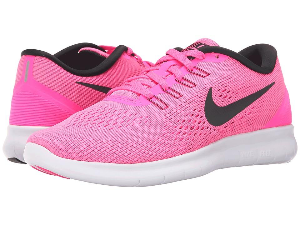 Nike - Free RN (Pink Blast/Fire Pink/White/Black) Womens Running Shoes