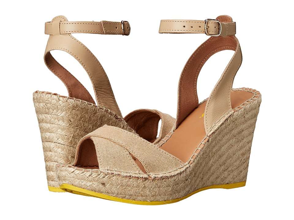 Lole High Heel Sandals Louisa Light Sand Womens Wedge Shoes