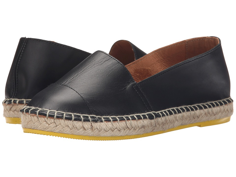 Lole Flat Sandals Leather Mona Black Womens Flat Shoes