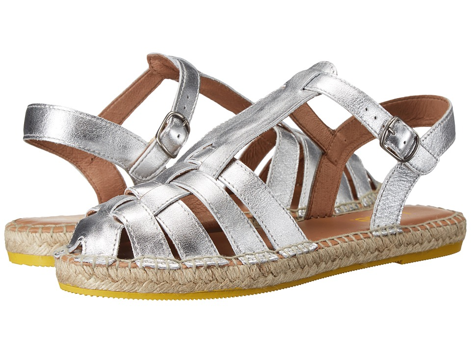 Lole Flat Sandals Medusa Silver Womens Sandals