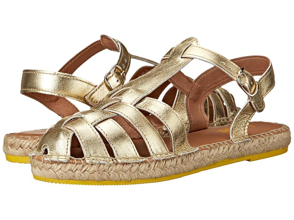 Lole Flat Sandals Medusa Gold Womens Sandals