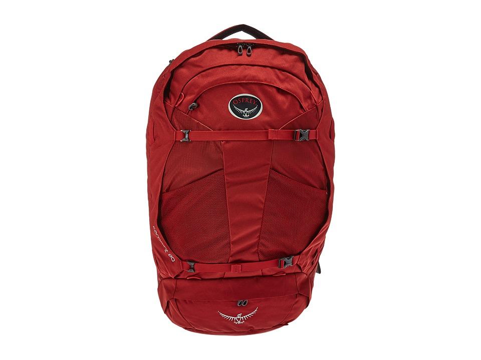Osprey Farpoint 80 (Jasper Red) Backpack Bags