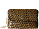Jessica McClintock Angie Crisscross Mesh Shoulder Bag (Black/Gold)