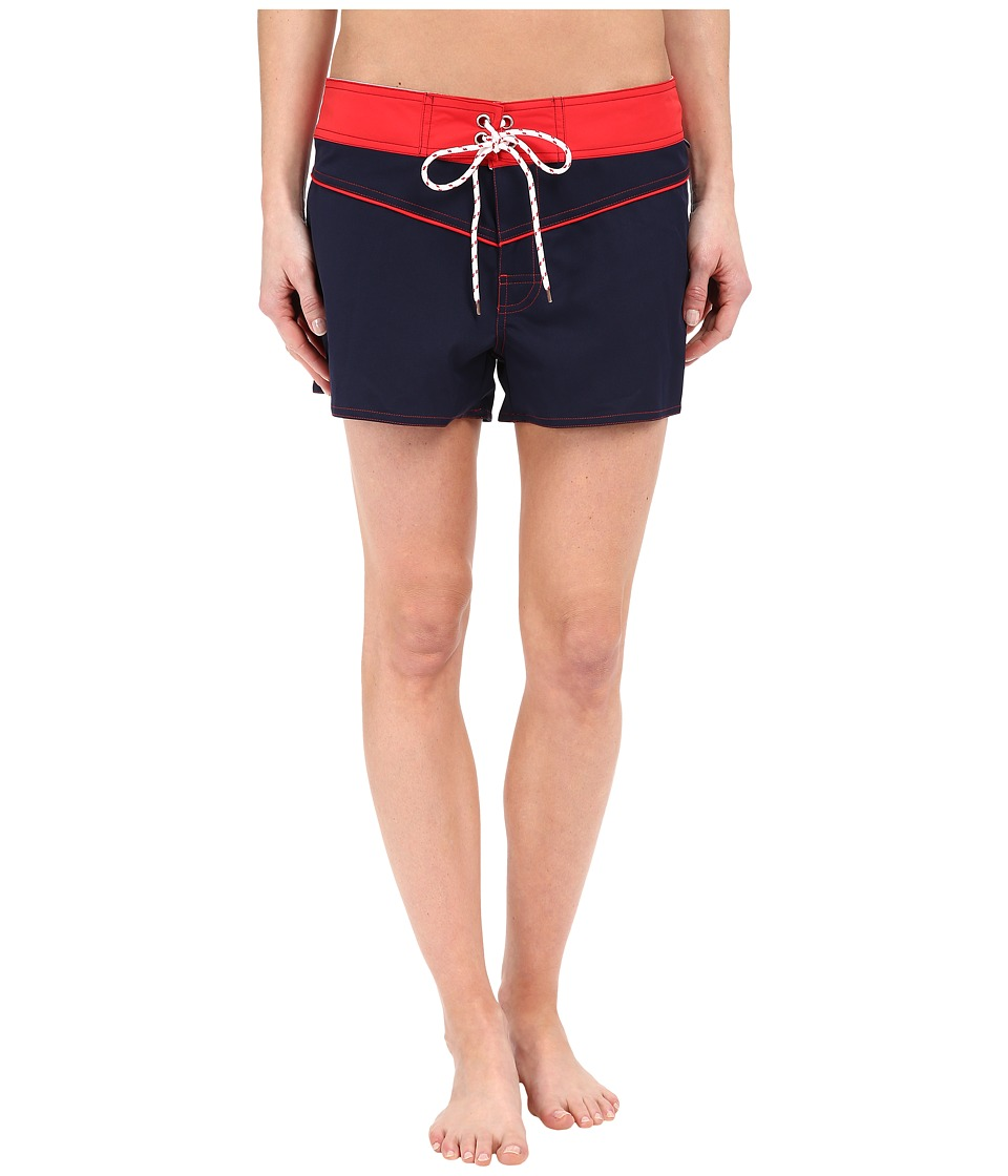 Nautica Signature 3 Boardshorts NA27756 Navy Womens Swimwear