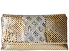 Jessica McClintock Nina Fold-Over Flap Clutch (Light Gold/Silver)