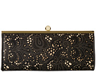 Jessica McClintock Carla Metallic Lace Framed Clutch (Black)