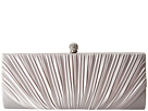 Jessica McClintock Flora Satin Rouched Framed Clutch (Silver)