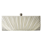 Jessica McClintock Flora Satin Rouched Framed Clutch (Ivory)