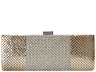Jessica McClintock Bailey Dramed Mesh Clutch (Light Gold)