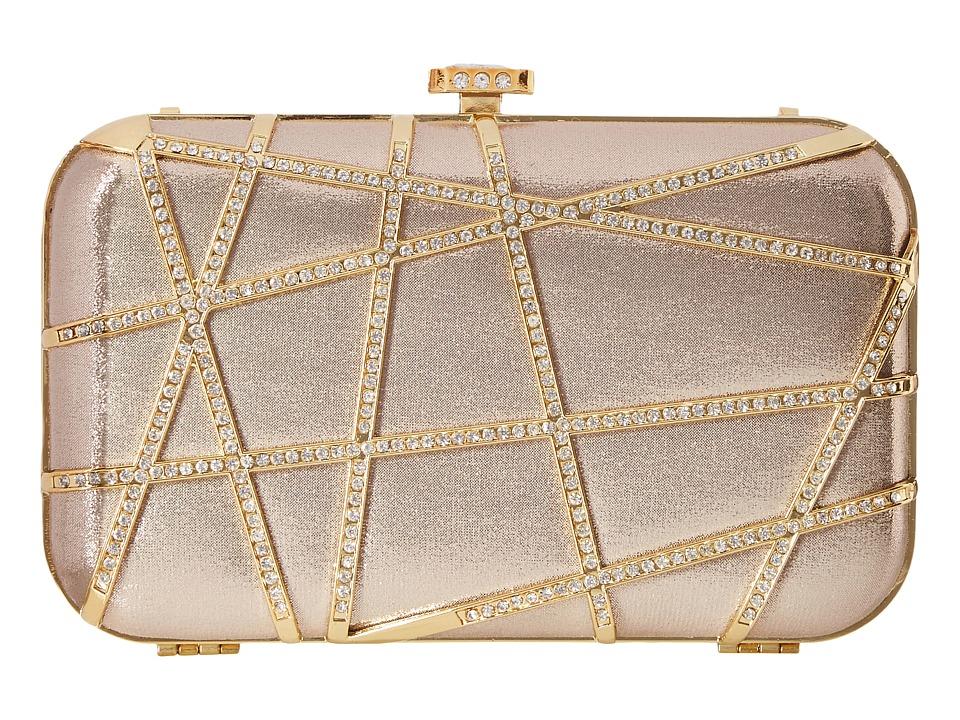 Jessica McClintock - Scarelet Clutch (Champagne) Clutch Handbags