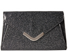 Jessica McClintock Lily Small Glittered Envelope Clutch (Black)
