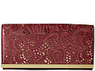 Jessica McClintock Addison Fold-Over Flap Clutch (Wine)