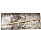 Jessica McClintock Allie Croco Asymetrical Clutch (Bronze)