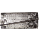 Jessica McClintock Allie Croco Asymetrical Clutch (Pewter)