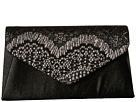 Jessica McClintock Lily Small Lace Envelope Clutch (Black/Multi)