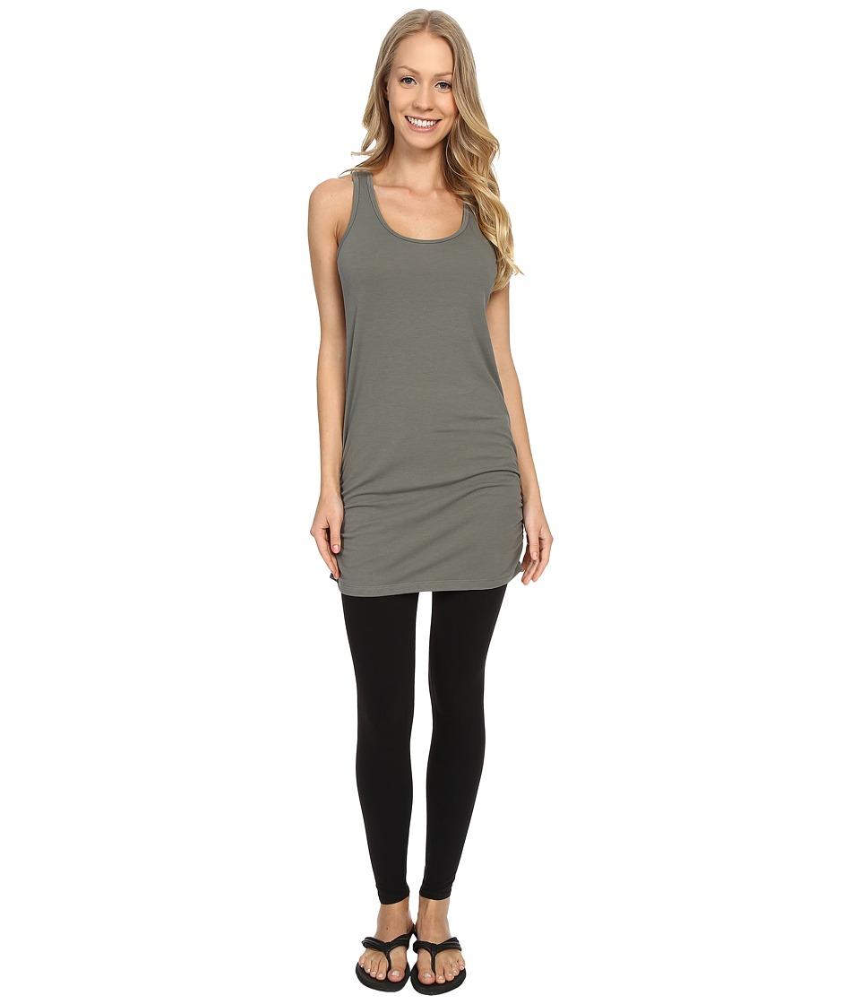Lucy Yoga Girl Sleeveless Tunic Moss Green Womens Sleeveless