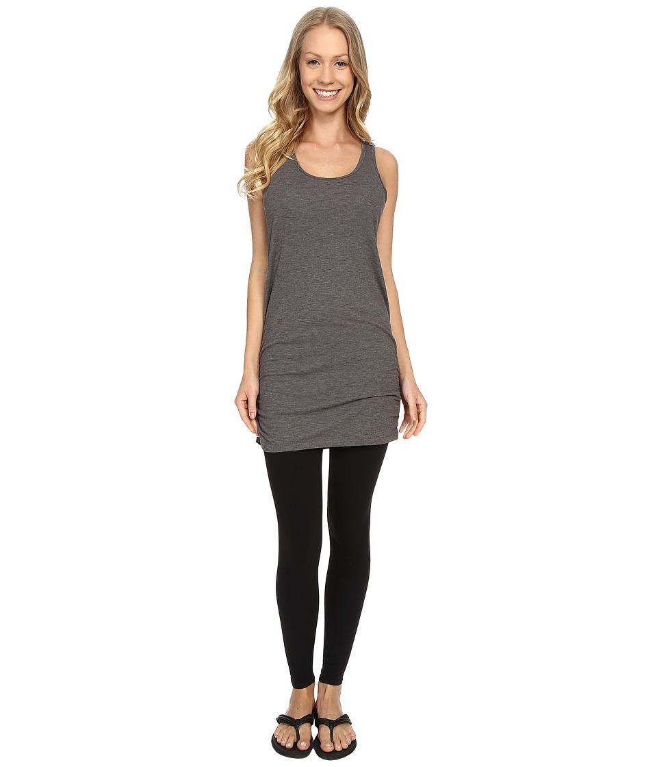Lucy Yoga Girl Sleeveless Tunic Asphalt Heather Womens Sleeveless