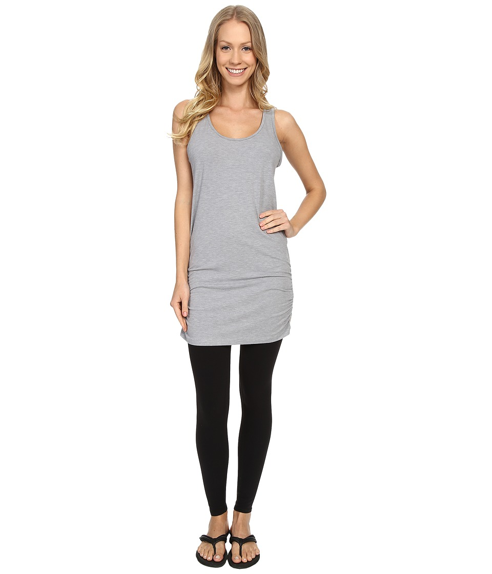 Lucy Yoga Girl Sleeveless Tunic Sleet Grey Heather Womens Sleeveless