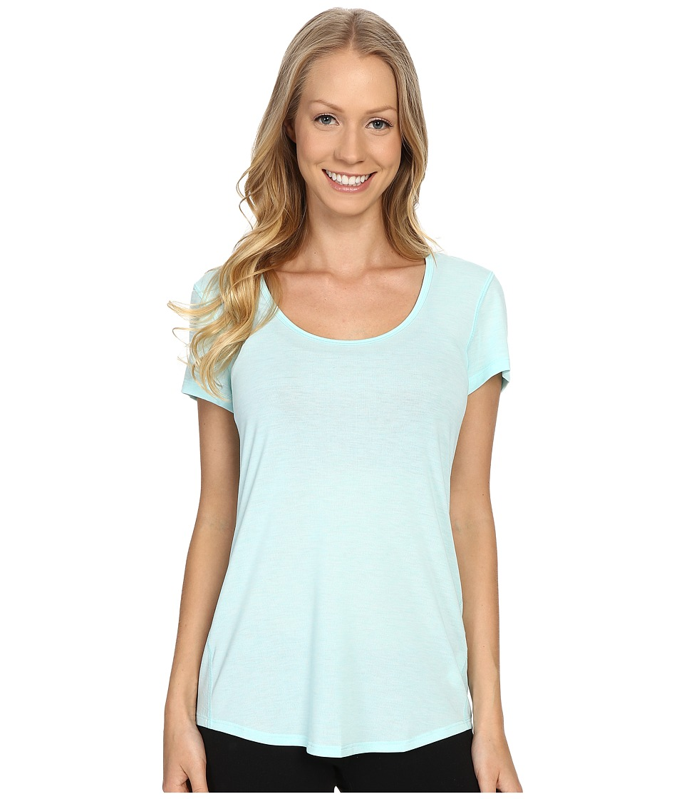 Lucy S/S Workout Tee Mist Green Heather Womens Workout