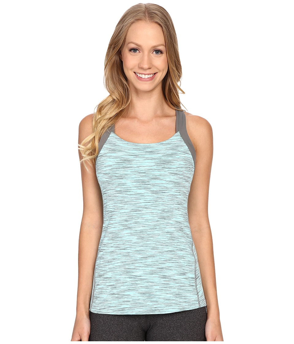 Lucy Fitness Fix Tank Top Mist Green Spacedye Womens Sleeveless