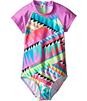 Seafolly Kids - Pool Party Short Sleeve Surf Tank One-Piece (Little Kids/Big Kids)