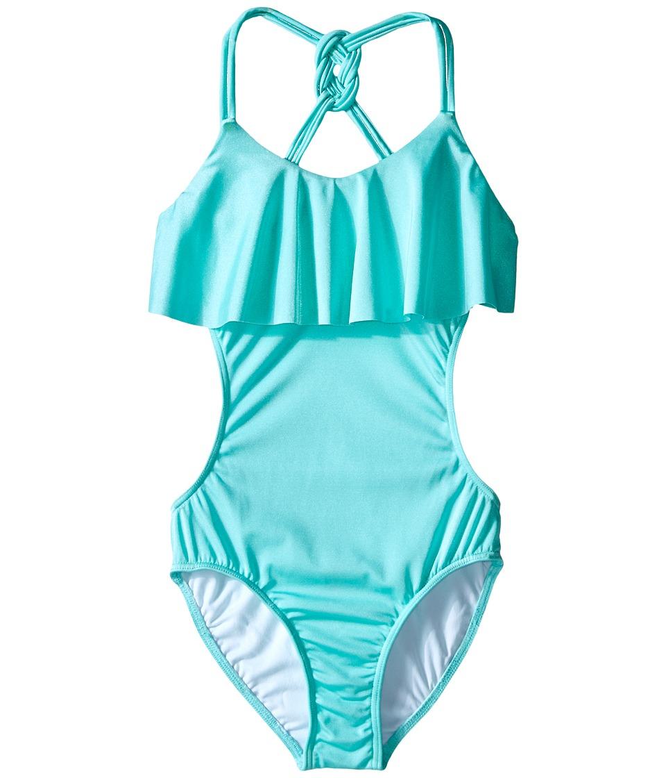 Seafolly Kids Pool Party Cut Out Tank Top Little Kids/Big Kids Peppermint Girls Swimwear