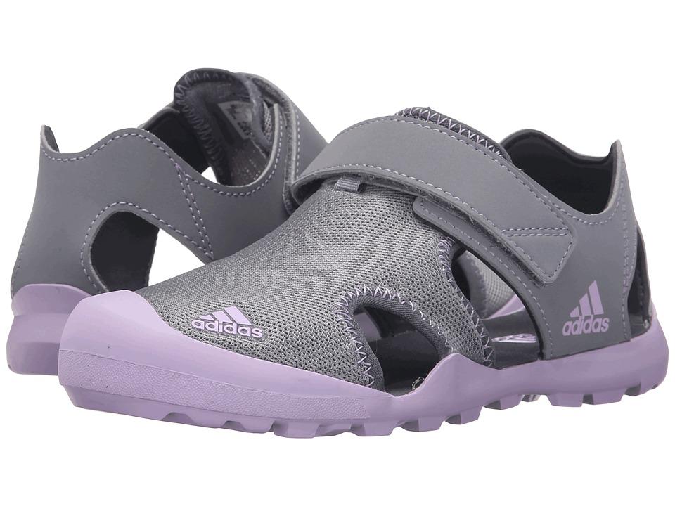 adidas Outdoor Kids Captain Toey Toddler/Little Kid/Big Kid Grey/Purple Onix Girls Shoes