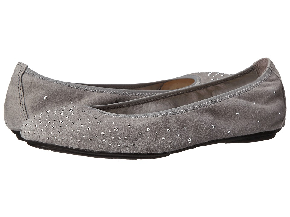 Hush Puppies Lolly Chaste Grey Suede Womens Flat Shoes