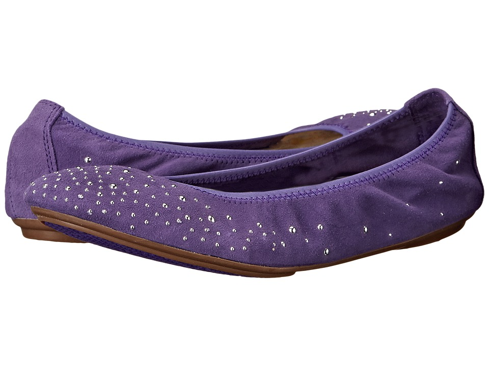 Hush Puppies Lolly Chaste Purple Suede Womens Flat Shoes