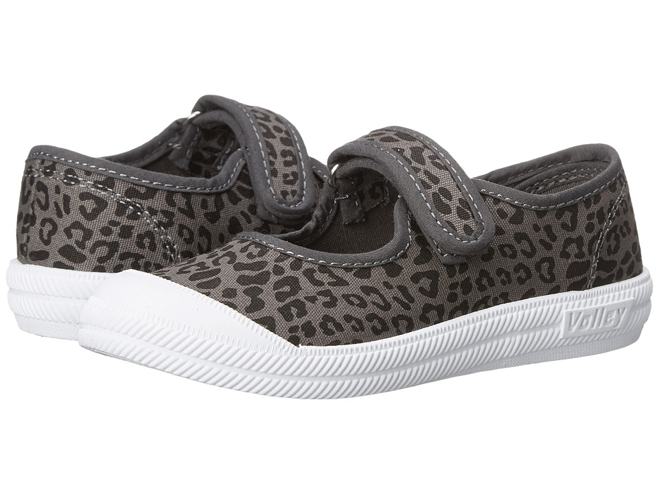 Volley Australia Mary Jane Toddler/Little Kid Charcoal/Black Leopard Womens Maryjane Shoes