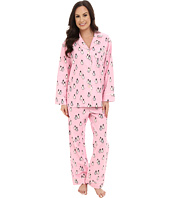 BedHead - Long Sleeve Classic Flannel Pink Penguins On Parade PJ Set
