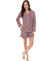 BedHead - Long Sleeve Boho Paisley Shorty Set