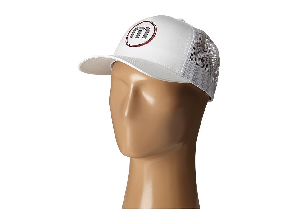 TravisMathew RED Breeze Cap White Caps