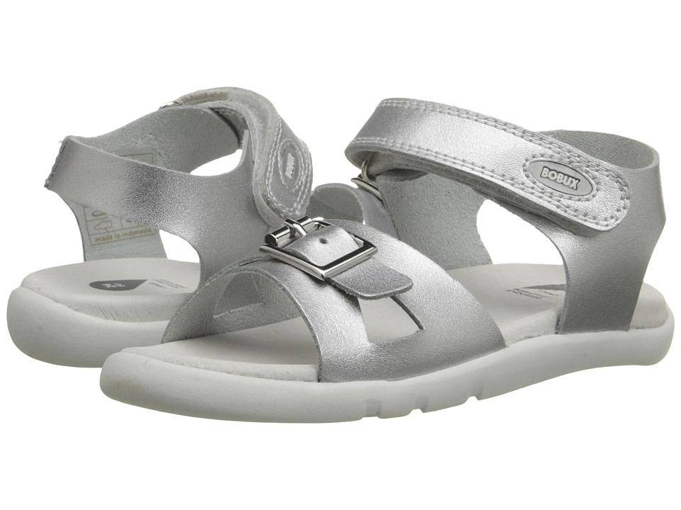 Bobux Kids I Walk Classic Pop Toddler Silver Girls Shoes