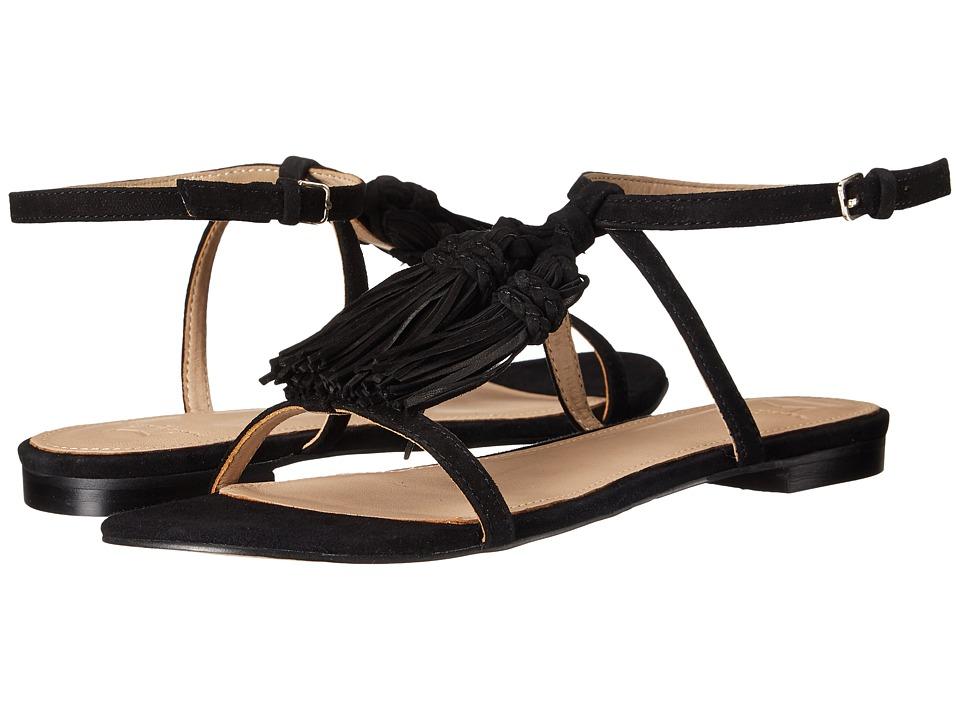 Marc Fisher LTD Crystal Black Savoy Suede Womens Sandals