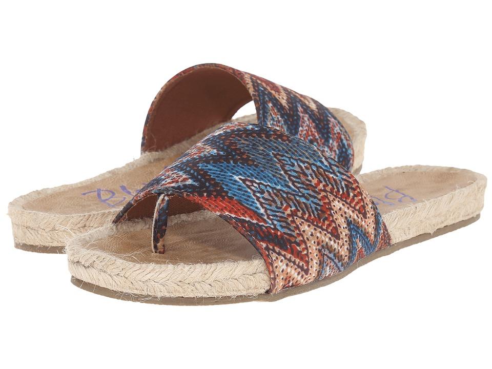Blowfish Glore Rust/Turquoise Palma Tribal Fabric Womens Sandals