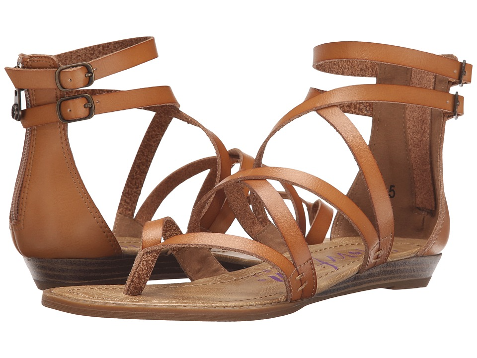 Blowfish Bungalow Desert Sand Dyecut PU Womens Sandals