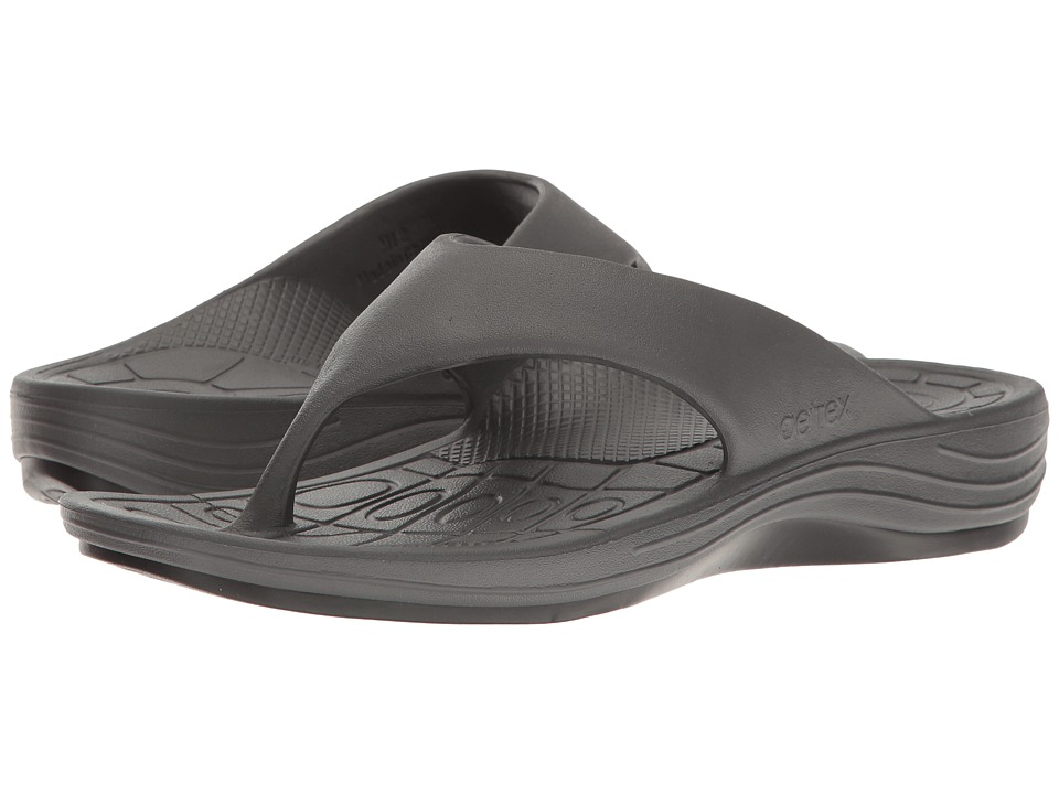 Aetrex - Lynco Flip (Charcoal) Mens Sandals